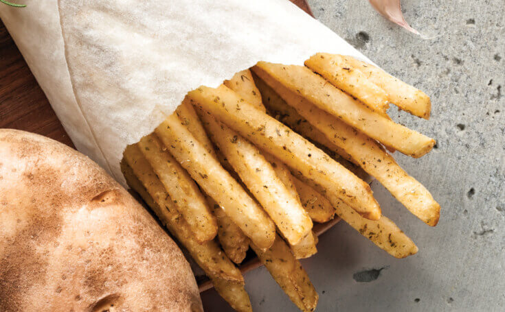 French Fry Background Image