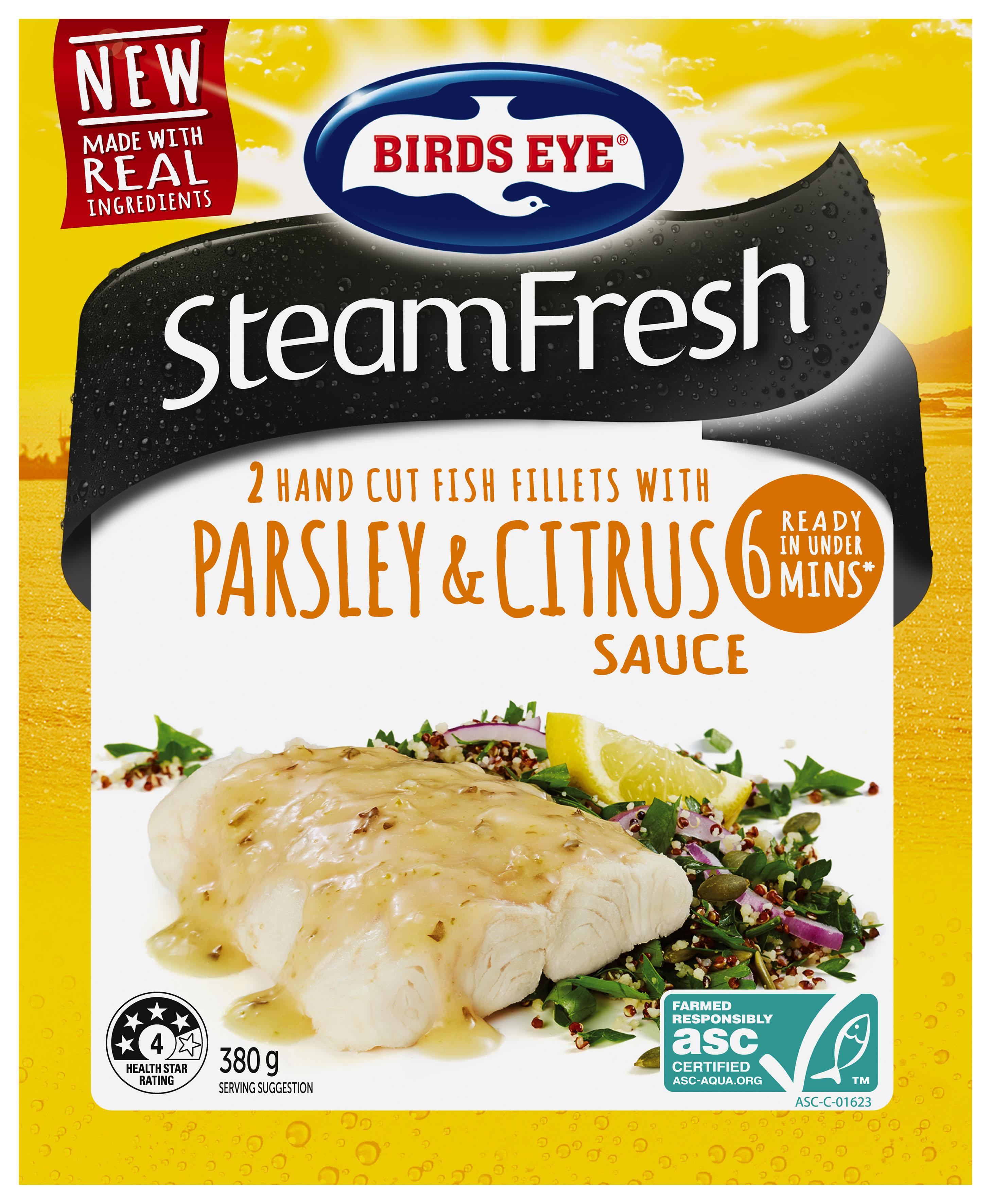 Birds Eye SteamFresh Parsley & Citrus 380g