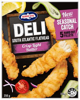 Birds Eye Deli Flathead fish fillets frozen
