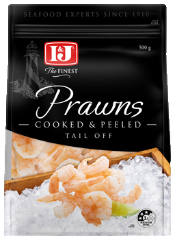 Prawns cooked peeled