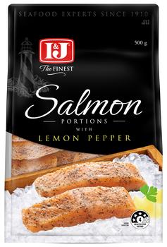 Salmon lemon pepper