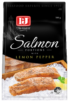 Salmon lemon pepper