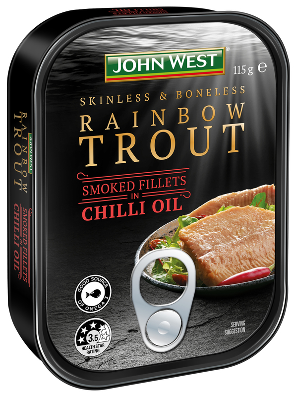 Rainbow Trout fillets smoked in chilli oit