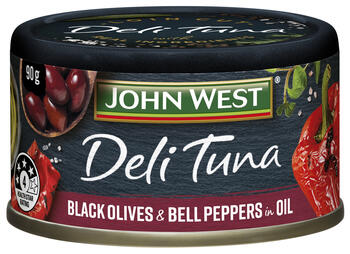 Deli Tuna Black Olives and Bell Peppers in Oil 90g