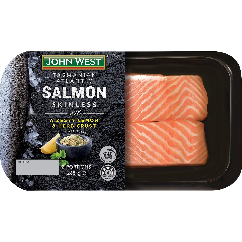 JW Salmon Lemon & Herb Crust 295g