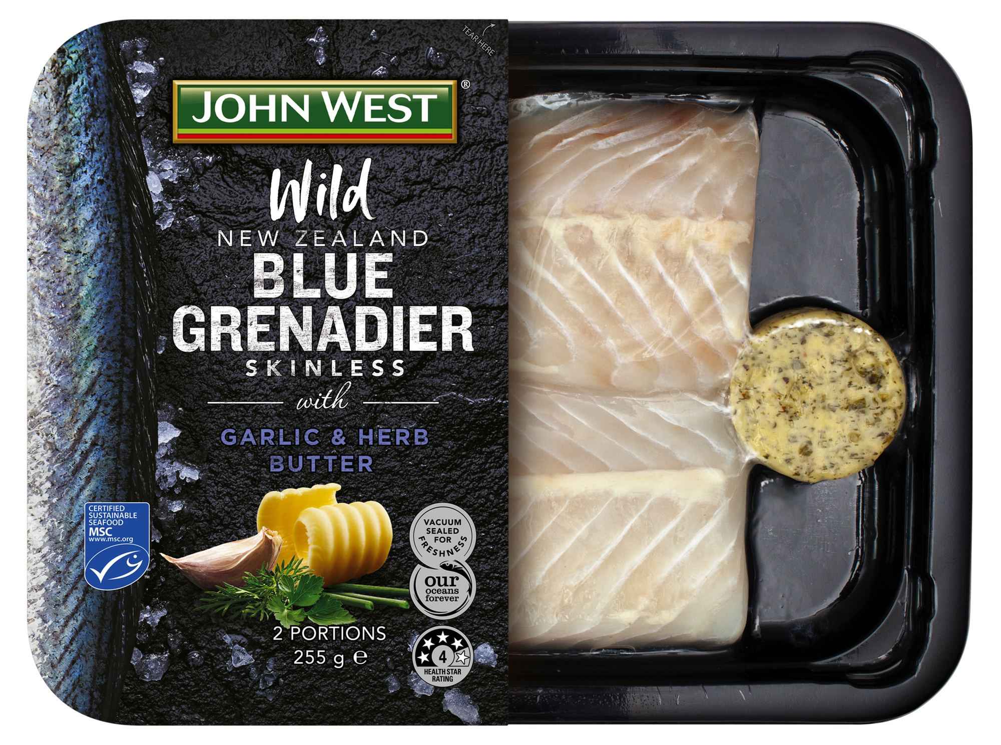 New Zealand Blue Grenadier Garlic Herb Butter