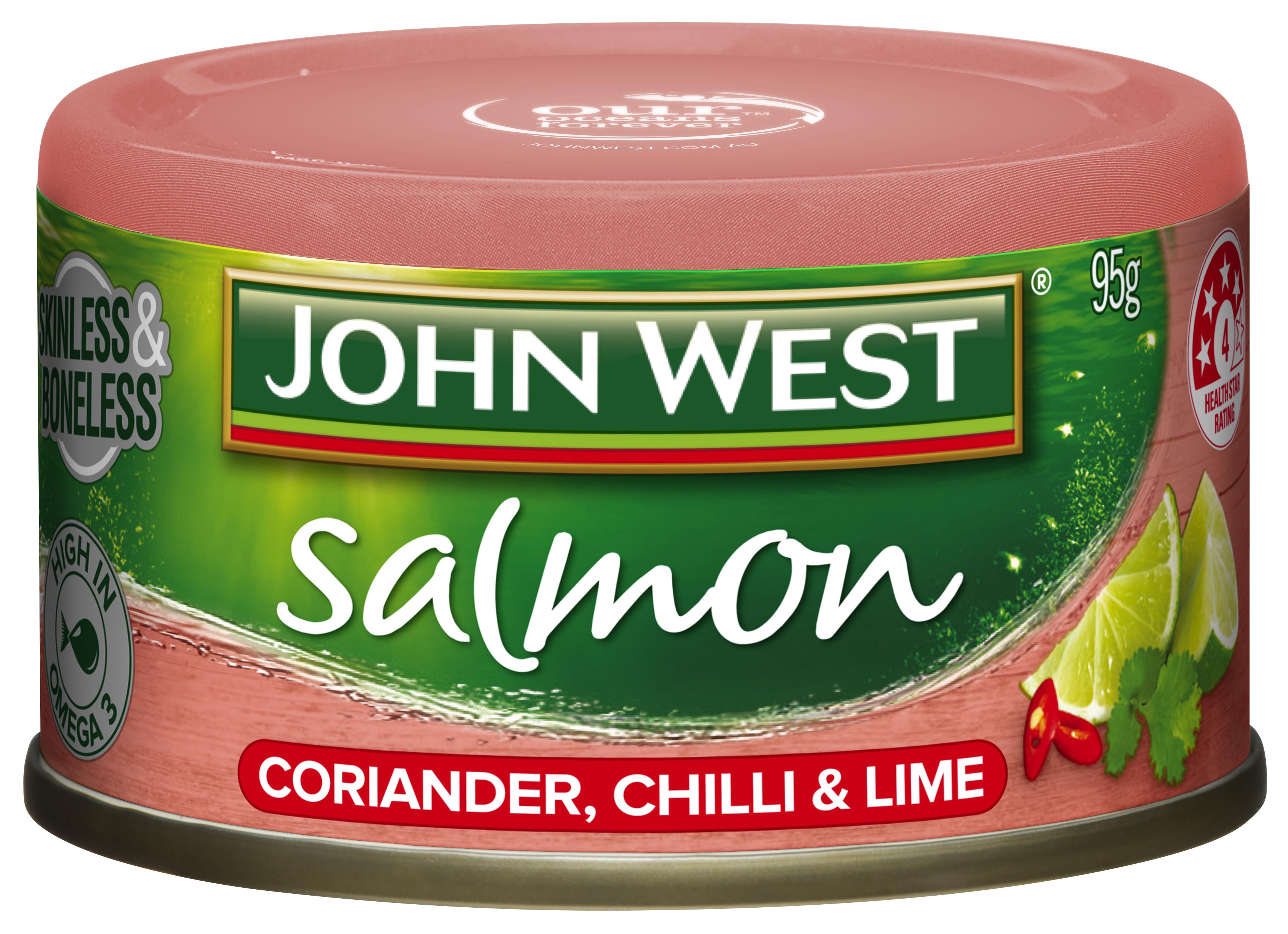 JW Salmon tempter coriander chilli lime 95g
