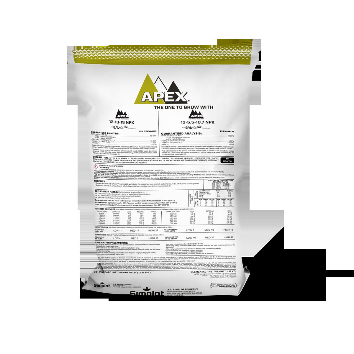 APEX-13-13-13 NPK Nursery Fertilizer